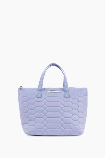 Mara Satchel, Sky Blue Diamond Quilt