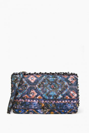 Marcel Convertible Crossbody, Navy Tapestry