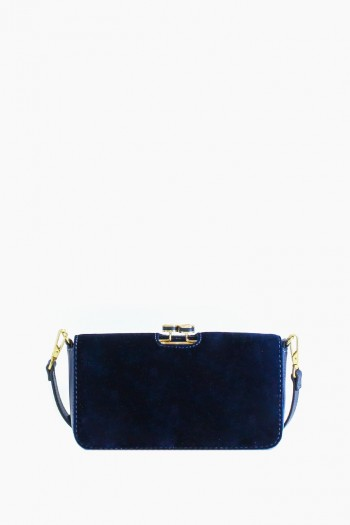 Mariah Kisslock Crossbody, Deep Sea Blue