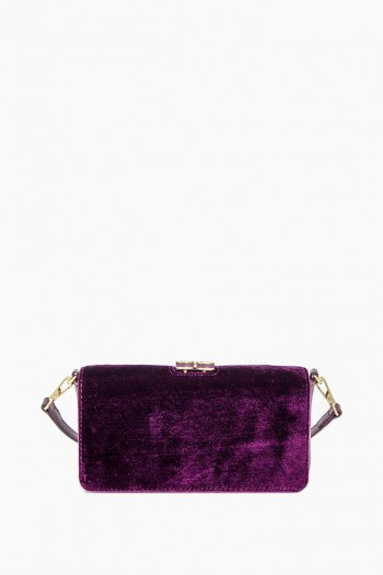Mariah Kisslock Crossbody, Plum