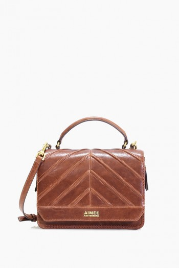Mia Expandable Crossbody, Almond