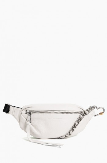 Heart Chain Bum Bag, Vanilla