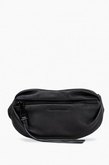 Milan Bum Bag Pebbled, Black / Black