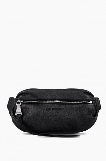 Milan Bum Bag, Black/Distressed Silver