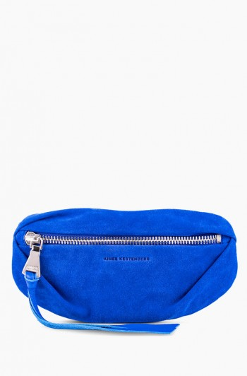 Milan Bum Bag, Lapis Blue Suede