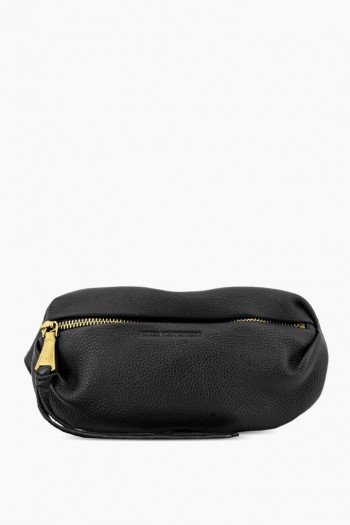 Milan Bum Bag, Black w/ Gold