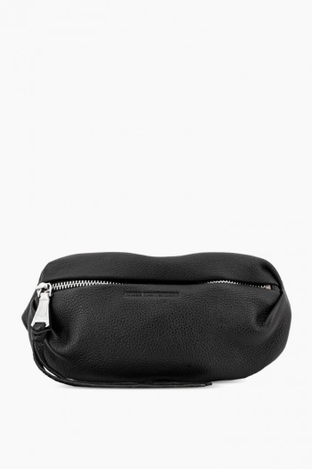 Milan Bum Bag, Black w/ Silver