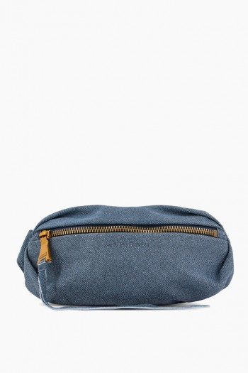 Milan Bum Bag, Dark Denim Leather