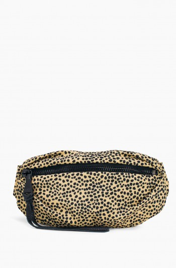 Nylon Milan Bum bag, Natural Spotted Cheetah