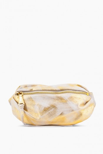 Milan Bum Bag, Gold Brushed Metallic