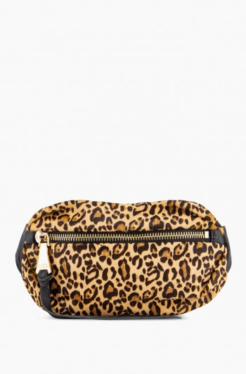 Milan Bum Bag, Small Leopard Haircalf