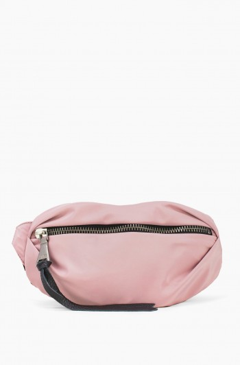 Nylon Milan Bum bag, Chalk Pink Nylon