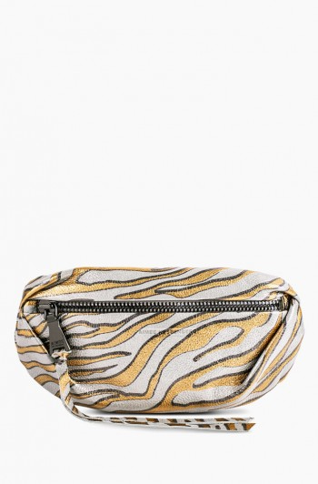 Milan Bum Bag, Metallic Zebra