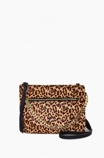 No B.S. Convertible Crossbody, Small Leopard Haircalf
