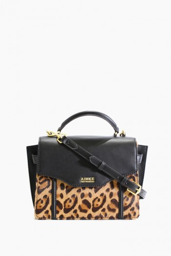 Phoenix Crossbody, Large Leopard Haircalf