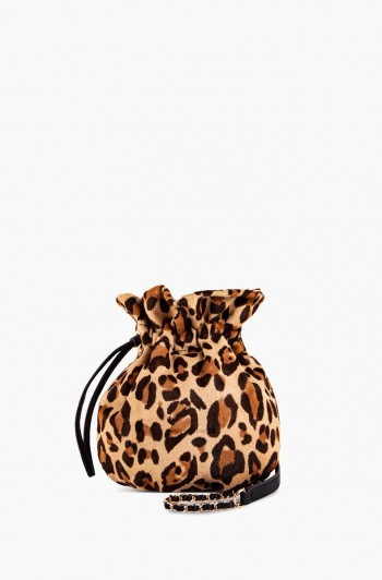 I'm a Queen Crossbody Pouch, Jungle Leopard Haircalf