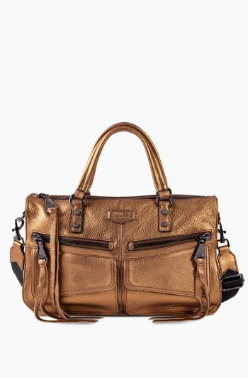 Road Trip Satchel, Metallic Bronze