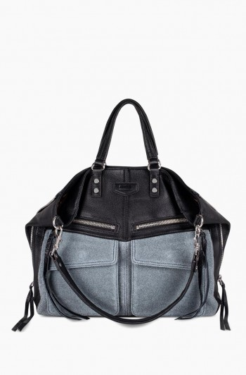 Road Trip Tote, Denim/Black