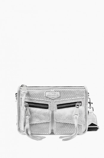 Road Trip Crossbody, Metallic Silver