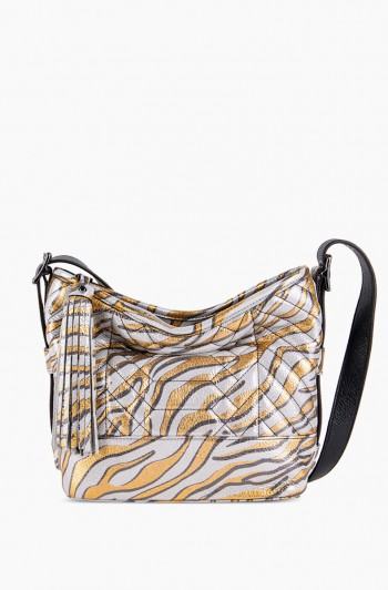Scene Stealer Bucket Bag, Metallic Zebra