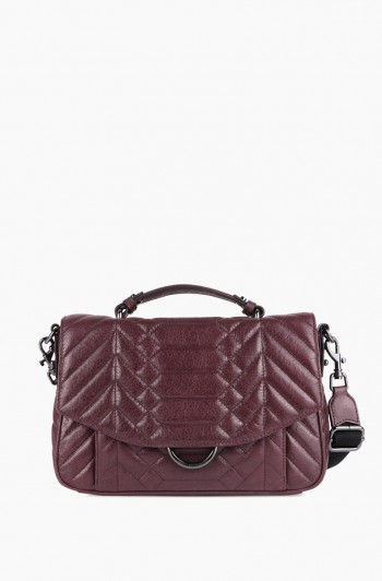 Scene Stealer Large Top Handle Crossbody, Vino