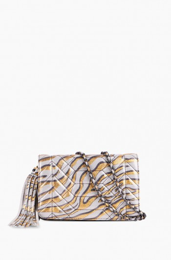 Scene Stealer Crossbody, Metallic Zebra