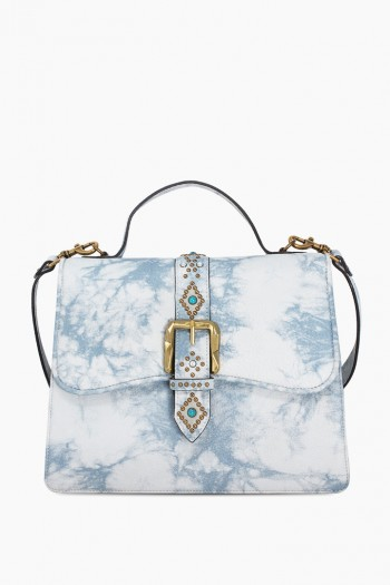 Shine Away Top Handle Shoulder Bag, Sky Tie Dye