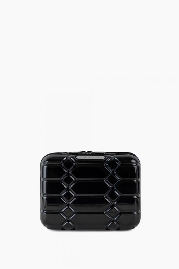 Small Hard Case Cosmetic Bag, Black
