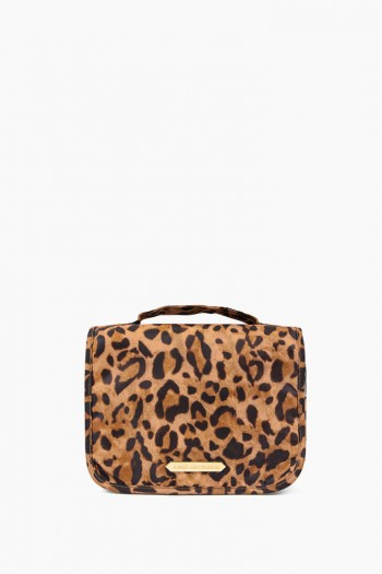 Sophia Hanging Cosmetic Bag, Leopard