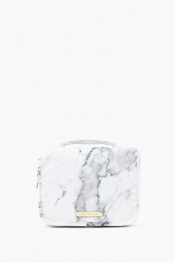 Sophia Hanging Cosmetic Bag, Marble