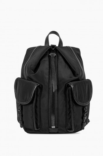 Nylon Tamitha Cargo Backpack, Black