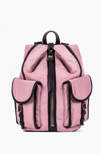 Nylon Tamitha Cargo Backpack, Chalk Pink