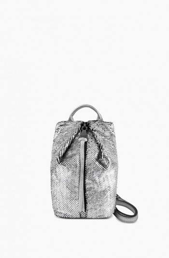 Tamitha Mini Crossbody, Silver Scales