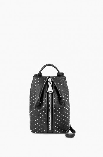 Tamitha Mini Crossbody, Black with Studs