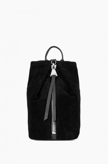Mini Tamitha Backpack, Black Suede