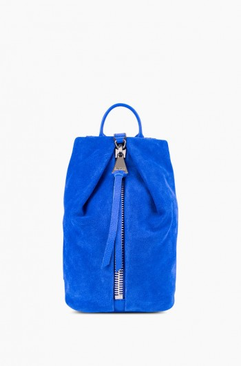 Mini Tamitha Backpack, Lapis Blue Suede