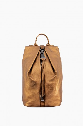 Mini Tamitha Backpack, Metallic Bronze