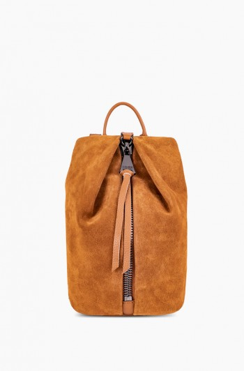 Mini Tamitha Backpack, Camel Suede