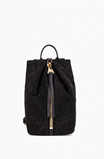 Mini Tamitha Backpack, Glitter Suede