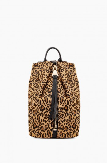 Mini Tamitha Backpack, Small Leopard Haircalf