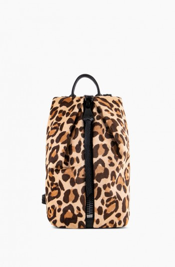 Mini Tamitha Backpack, Jungle Leopard Haircalf