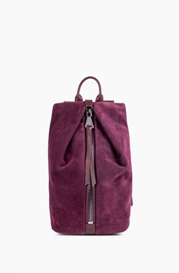 Mini Tamitha Backpack, Vino Suede