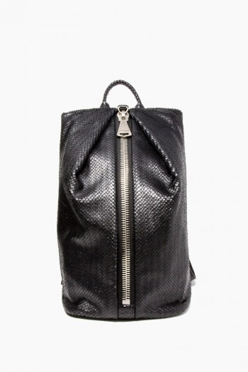 Tamitha Backpack, Black Fish Scales