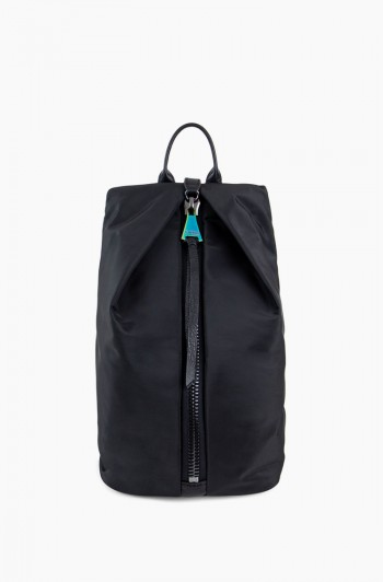 Tamitha Backpack, Black with Iridescent Nylon