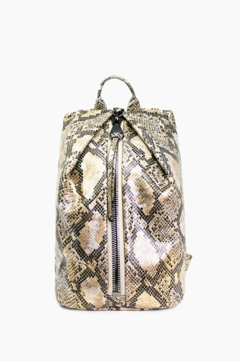 Tamitha Backpack, Gold Python