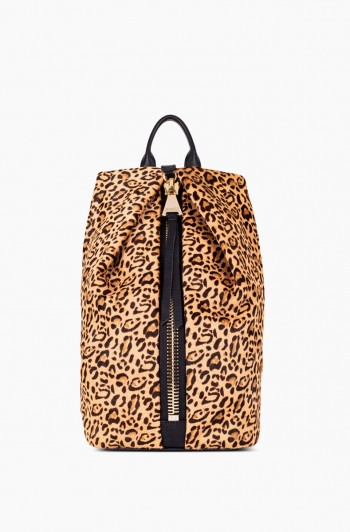 Tamitha Backpack, Small Leopard Haircalf