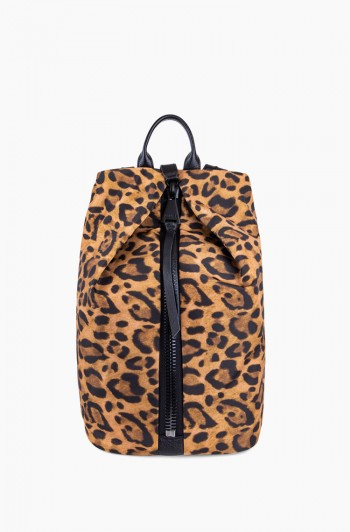 Tamitha Backpack, Leopard Nylon