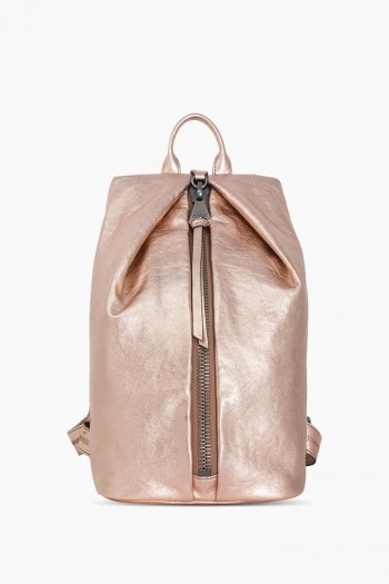 Tamitha Backpack, Light Rose Gold Metallic