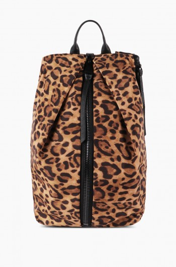 Tamitha Tech Backpack, Leopard Nylon