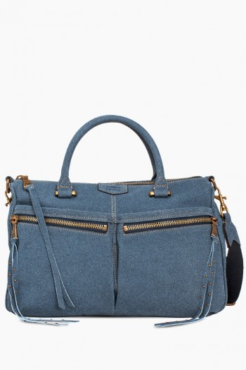 You Got This Satchel, Dark Denim Leather